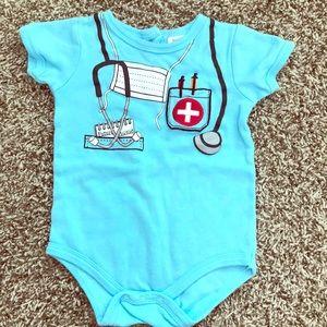 """Baby """"Future Doctor"""" Blue Onesie"""